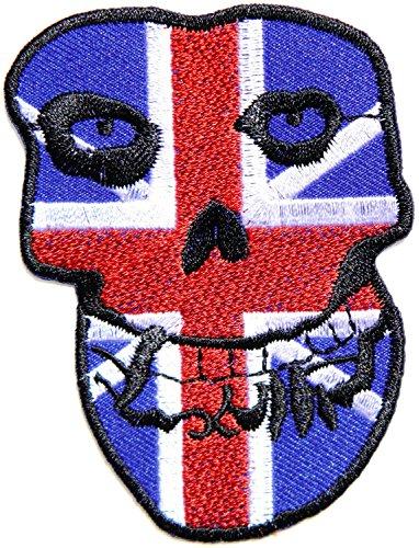 Misfits British United Kingdom Uk Flag Band Logo Punk Rock Heavy Metal Music Band Jacket T Shirt Patch Sew Iron on Embroidered (Misfits British compare prices)