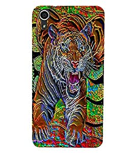 HTC DESIRE 728 TIGER Back Cover by PRINTSWAG