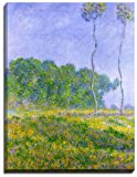 Canvas Reproduction Print, A Picture Of Claude Monet Painting, Spring Landscape, 1894, Superb Print On Heavyweight Canvas, Wrapped Around A Thick Wooden Frame Of Approx. 22mm In Depth (Finished Size with Wrap, Approx. 25mm), Aproximate size 16 Inch x 12