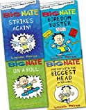 Lincoln Peirce Big Nate Collection 4 Books Set Pack RRP: £22.96 (Big Nate On a Roll, Big Nate Strikes Again, Big Nate The Boy With The Biggest Head, Big Nate Boredom Buster)