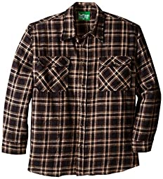 Teflon Men\'s Apparel LS Brawny Plaid Flannel Shirt, 3X-Large, Brown Khaki