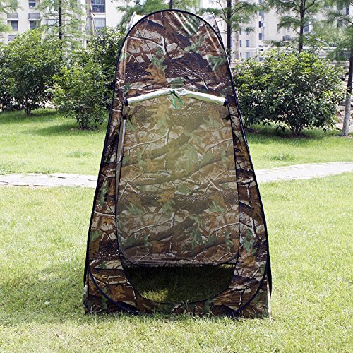 Camouflage Portable Camping Toilet Pop Up Tent Privacy