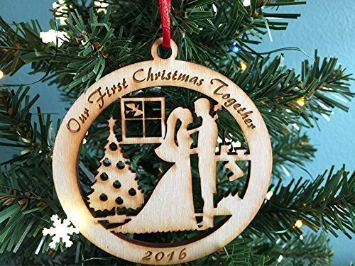 Bride and Groom First Christmas Together 2016 - Christmas Ornament, Newlywed Christmas