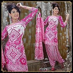 Variation Women's Pink Crepe Unstiched Dress Material (VD15694)