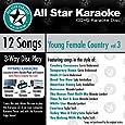 ASK-1562 Karaoke: Young Female Country 3 With Karaoke Edge, Carrie Underwood, Lady Antebellum, Miranda Lambert, Taylor Swift