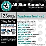 ASK-1562 Karaoke: Young Female Country 3 With Karaoke Edge, Carrie Underwood, Lady Antebellum, Miranda Lambert, Taylor Swift