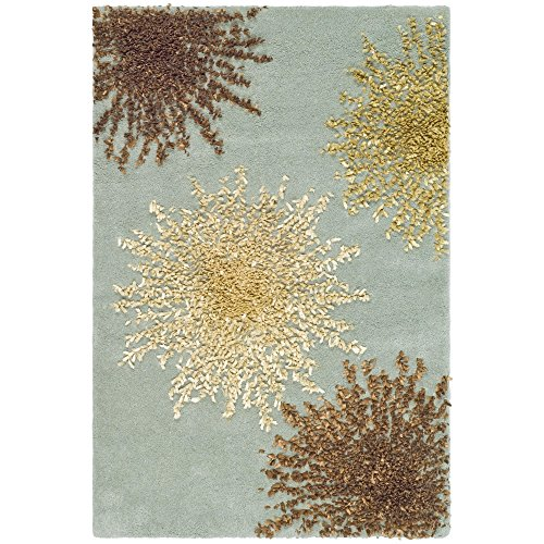 Safavieh Soho Collection SOH712C Handmade Light Blue and Multicolored New Zealand Wool Area Rug, 2 feet by 3 feet (2