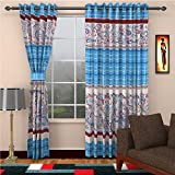 Home Castle Traditional Door Curtains , Set of 2 - 7 ft x 4 ft