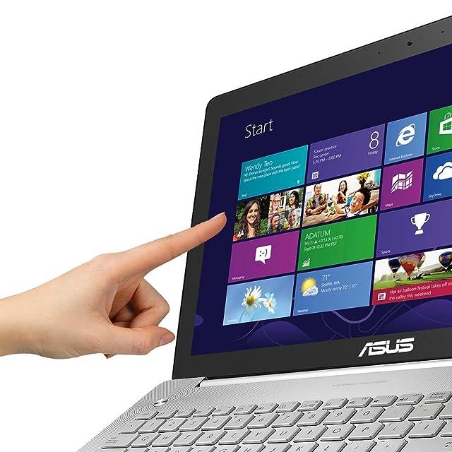 ASUS N550J 15.6 Inch Laptop (Intel Core i7 4700HQ 2.4GHz Processor, 1TB Hard Drive, 8GB RAM, Windows 8.1 64 bit) Silver Grey