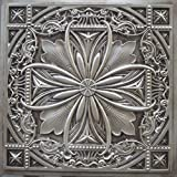 Discounted Decorative Ceiling Tile #10 Tin Antique Silver Can Be Glue on Clean Smooth Flath Surface, Also Can Glued Over Secure Popcorn Ceiling Styrofoam Glue Over Popcorn or Clean Flat Surfaces.glue On,tape On!