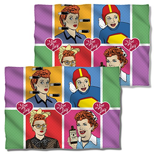 I Love Lucy Comic Front & Back Pillow Case LB246FBPLO