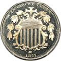 1877 P Shield Nickels (Proof) Nickel PR66 PCGS DCAM