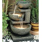 Alfresco Home Rocca Resin Fountain, Brown