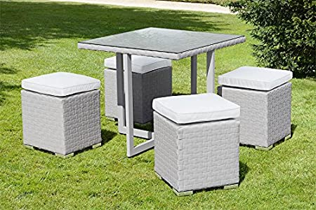 MY-Furniture - Conjunto Cubo Gris Comedor