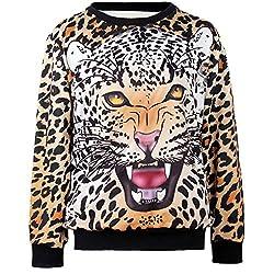 THENICE Women's Sport Pullovers Couples Sweater Sweatshirt Fashion T-shirt