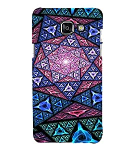 EPICCASE Trippy purple Mobile Back Case Cover For Samsung Galaxy A3 (2016) (Designer Case)
