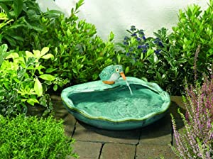 keramik solarbrunnen eisvogel garten. Black Bedroom Furniture Sets. Home Design Ideas