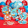 Dr Seuss 1st Birthday Party Supplies - Standard Party Pack for 16