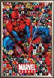 Heroes Movie (Spider-Man Collage) 36x24 Dry Mount Poster Gold Wood Framed