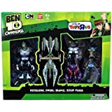 Ben 10 Omniverse Exclusive Action Figure 4 Pack Pettaliday, Driba, Blukic & Solid Plugg By Bandai