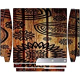 Flowers Over Woodgrain Art Design Playstation 3 & Ps3 Slim Vinyl Decal Sticker Skin By Mw Customs