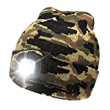 Ultra Bright LED Unisex Lighted Beanie Cap/Winter Warm hat (USB charging) (Camouflage)
