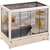 Ferplast Hamsterville Cage en bois pour hamster Noir 60 x 34 x 49 cm