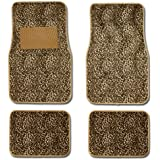 Cheetah Animal Print Auto Floor Mat 4 Pcs