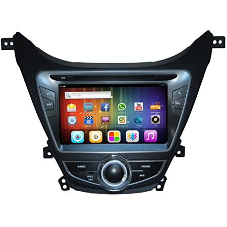Transmisor Pupug pur Android 4.2 Transmisor de coches Lecteur DVD GPS Radio VidšŠo fr Hyundai Elantra 11 14 Universal Stereo BT vw jugador en el tablero de coches surveiller Autoradio