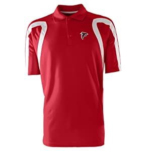 NFL Men's Atlanta Falcons Point Desert Dry Polo Shirt (Dark Red/White, XX-Large)
