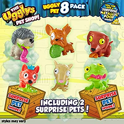 Ugglys Pet Shop Figurines (Pack of 8, Styles Vary))