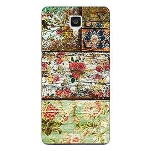 Jugaaduu Floral Pattern Back Cover Case For Xiaomi Mi4