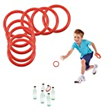 Toy Cubby Ring Toss Ring-a-bottle Game Set, 2.5 Inches, 24 Pcs