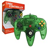 Old Skool Classic Wired Controller Joystick for Nintendo 64 N64 Game System - Jungle Green (Color: Jungle Green)