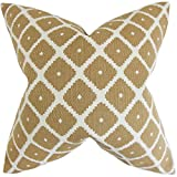The Pillow Collection P20-ROB-SOUK-COPPER-C69-P31 Fallon Geometric Pillow, Copper, 20