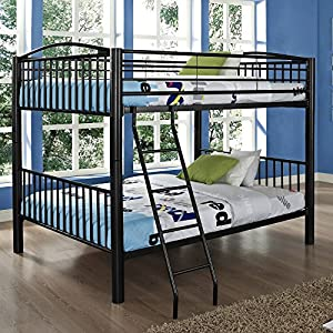 Powell Full Over Full Bunk Bed - Black