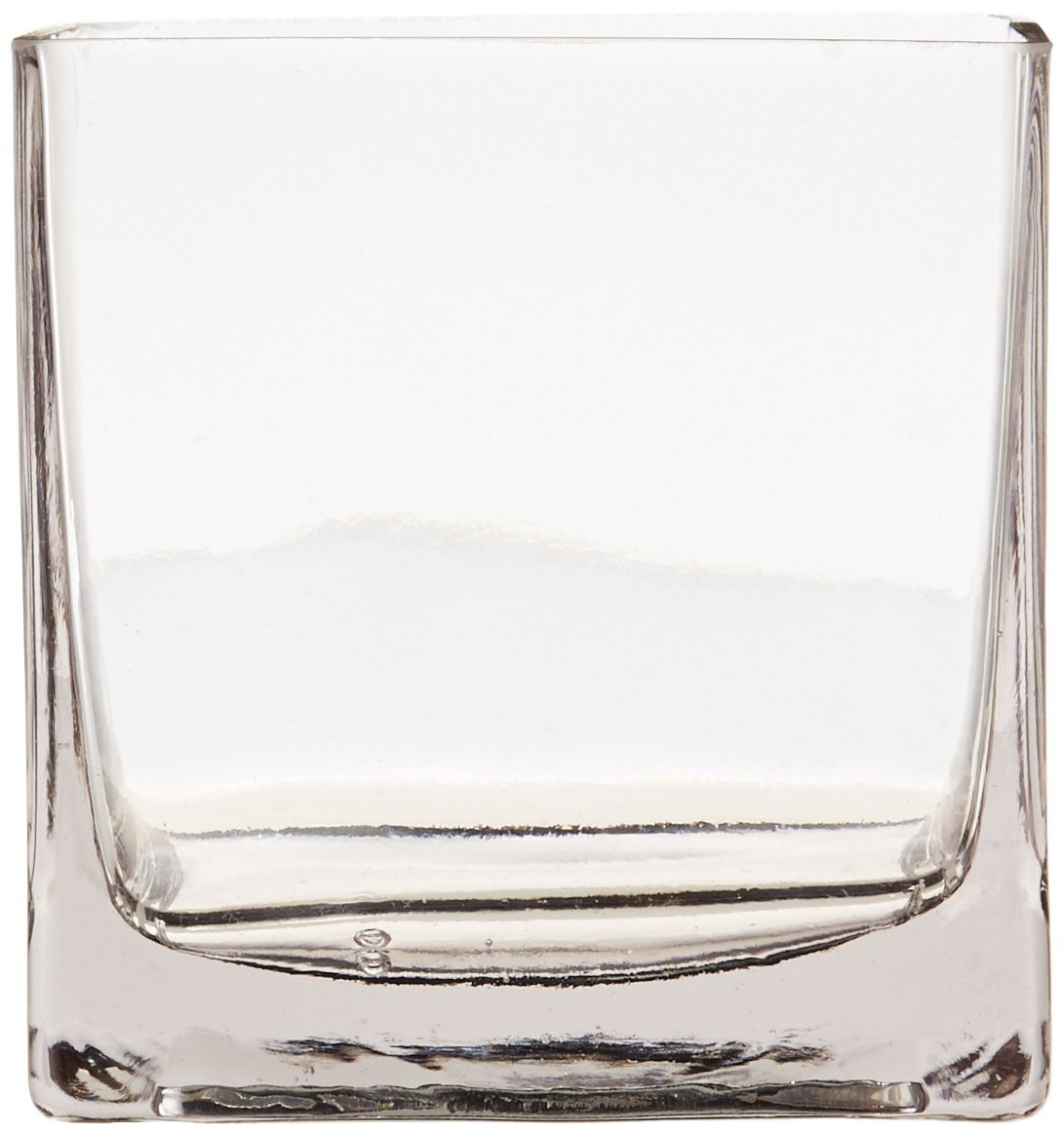 "12piece 4"" Square Crystal Clear Glass Vase"