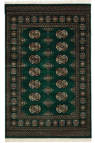 "Bokhara Area Rug, 2'3""x7'6""RUNNER, EMERALD"