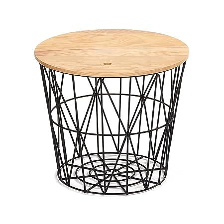 Cesta de almacenaje / Mesa de sofá de hierro / Esquina lateral Una mesa de revista / Mesa de centro simple / Mesa suelta / (2 colores opcionales) (tamaño opcional) ( Color : B , Tamaño : 40cm )