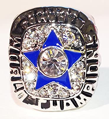Dallas Cowboys 1971 Super Bowl Ring - Roger Staubach Replica Great Dallas Cowboys Memorabilia Wear or Display - Men/Women/Unisex Size 9 - Shipped from USA