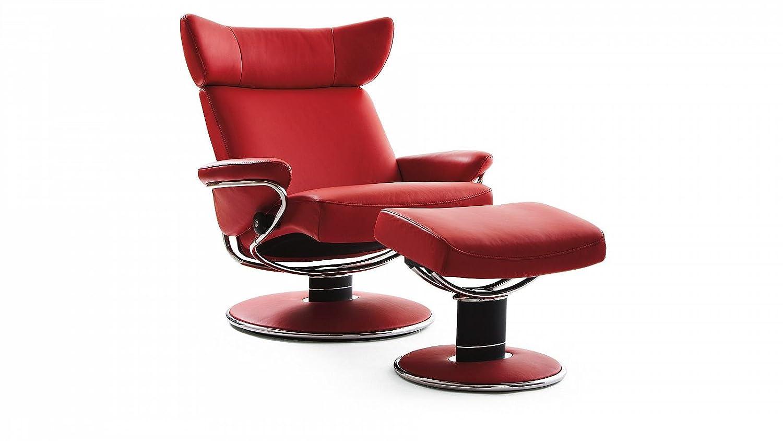 Stressless® Jazz Sessel mit Hocker (M) Rot günstig günstig bestellen