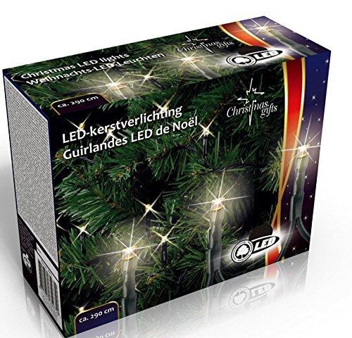 Lichterkette 80 LED warm weiß 5m Weihnachtsbaum Kerzen Christbaum Außen