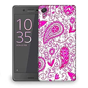Snoogg Paisley Pink Pattern Designer Protective Back Case Cover For Sony Xperia X Dual