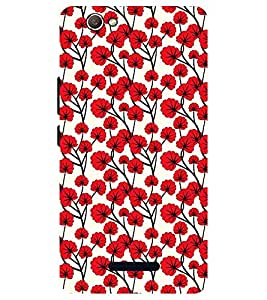 Chiraiyaa Designer Printed Premium Back Cover Case for Micromax Canvas Nitro 2 E311 (flower red pattern) (Multicolor)