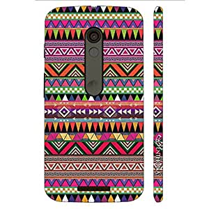 Enthopia Designer Hardshell Case Three Cornered Aztec Back Cover for Motorola Moto X3