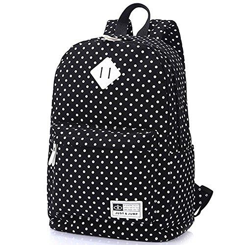 Esther Beauty Estudiante de moda casual Backpack Travel school Shoulder Bag Polka Dot lienzo mochila para adolescentes