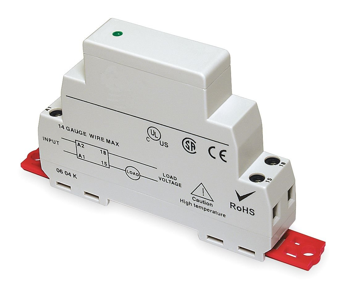 Dayton 1EJF7 Solid State Relay, Input, 3.5-32VDC, Gray ssr 40da 40a solid state relay grey silver
