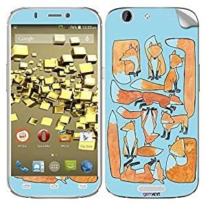 GsmKart MCG Mobile Skin for Micromax Canvas Gold (Blue, Canvas Gold-839)