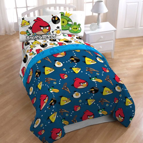 Angry Birds Stop Madness 3Pc Twin-Single Bed Sheet Set