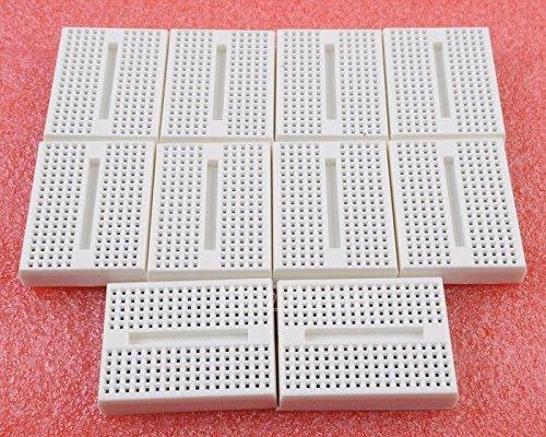 Wonderfullshop10Pcs Solderless Prototype Breadboard 170 Tie-Points For Arduino Shield White